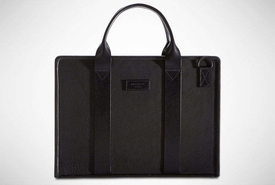 Killspencer Black Leather Hardshell Briefcase