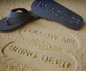 Follow Me Bring Beer Flip Flops