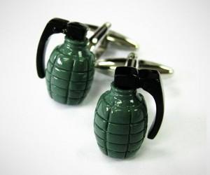 Hand Grenade Cufflinks