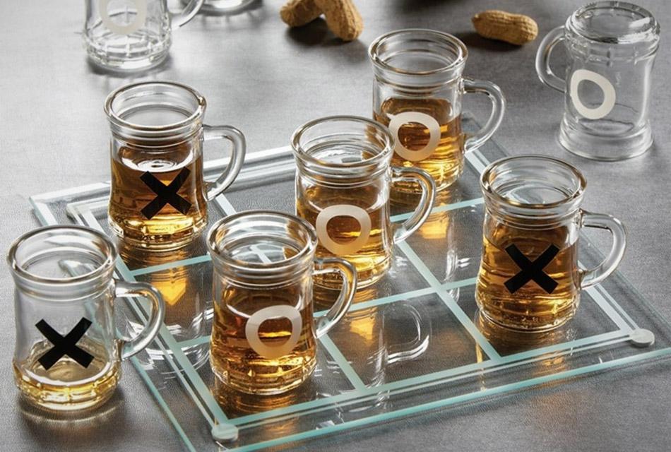 Tic Tac Toe Drinking Shot Glasses