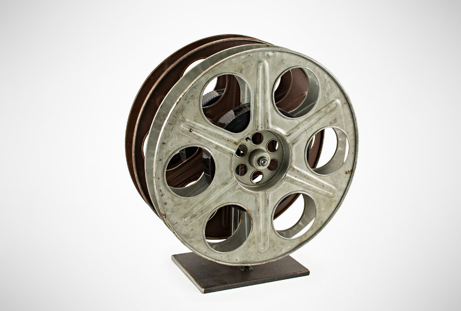Vintage Film Reel Wine Rack