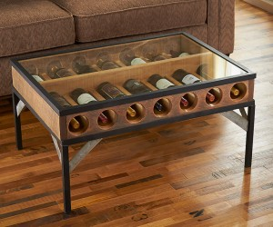 Wine Display Coffee Table
