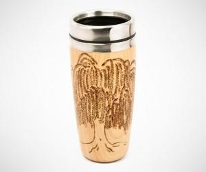 Woodburned Travel Mug