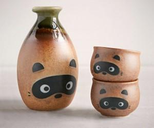 Raccoon Sake Set